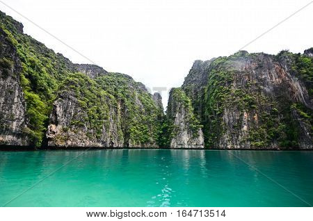 Andaman island, one island in the middle of Andaman sea