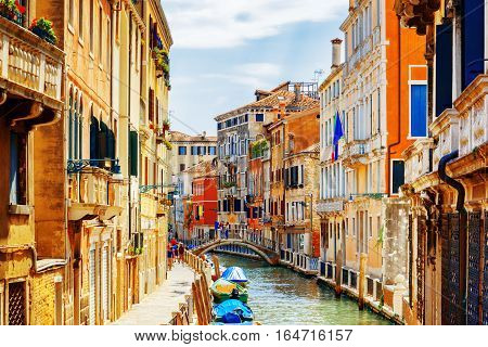 View Of Rio Marin Canal And Ponte Cappello Dei Garzoti, Venice