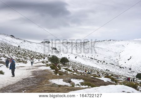 Weekend in Guadarrama Mountains, Madrid, Spain. Photo taken in Puerto de la Morcuera Rascafria
