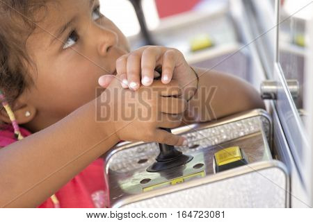 Kid Playing With Joystick