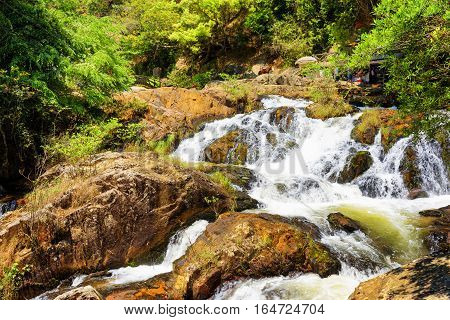 Beautiful Cascade Of The Datanla Waterfall In Da Lat City (dalat
