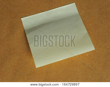 Postit Over Brown With Copy Space