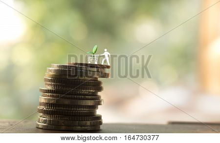 stack of coinconcept idea for business and money.