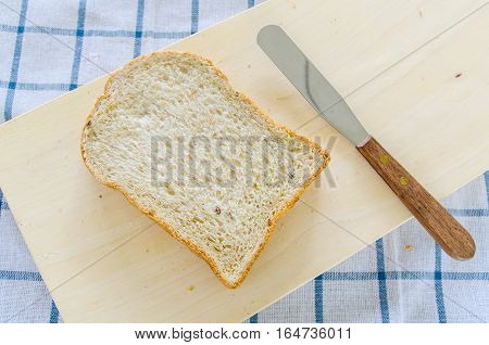 Fresh Homemade Whole Wheat Bread on a Background