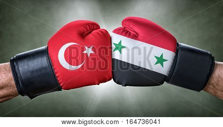 A Boxing Match Between Turkey And Syria