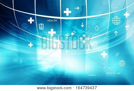 Medical Abstract Background; Abstract Background Suitable for Healthcare and Medical News Topic 3d Render 3d illustration