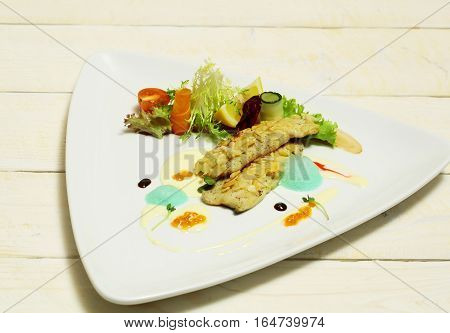 Fried Fish Fillet Under Almond