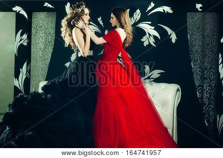 Pretty Women In Elegant Dresses
