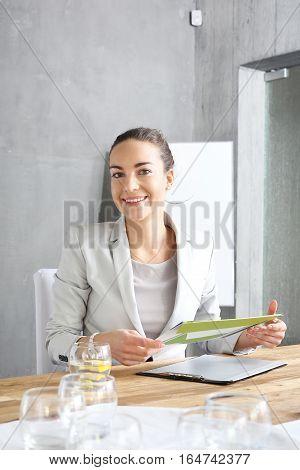 Interview. Recruitment woman during a job interview.
