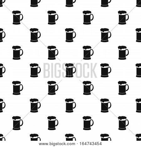 Mug of beer pattern. Simple illustration of mug of beer vector pattern for web design