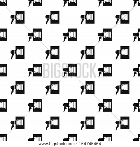Barcode scanner pattern. Simple illustration of barcode scanner vector pattern for web design