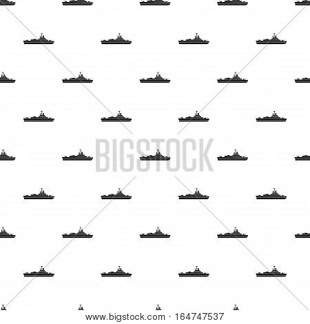 Military navy ship pattern. Simple illustration of military navy ship vector pattern for web