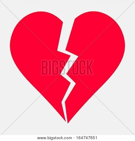Two Parts Of Broken Heart. Valentine Heart Simbol. Wedding Vector Heart Sign. Hearts With Beautiful
