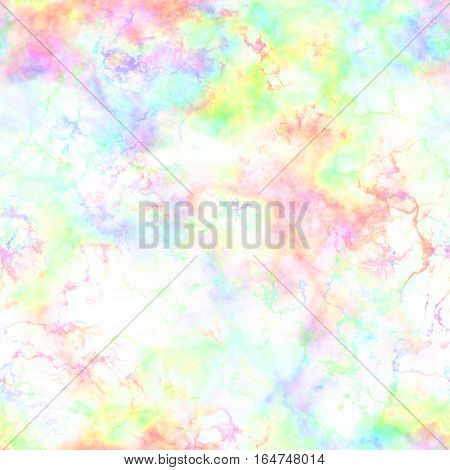 Abstract light colorful smoke on white background.  Multicolor clouds. Rainbow cloudy pattern.  Blurry gas. Steam. Fog. Foggy color spectrum. Blurs.  Texture background. Seamless illustration.