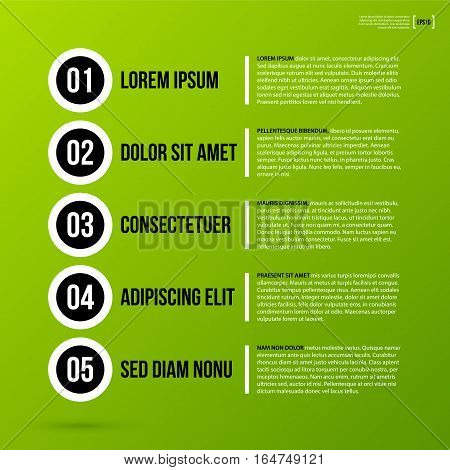Sequence Template On Fresh Green Background. Useful For Tutorials And Instructions.