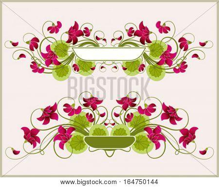 Floral frames. Beautiful vector illustration.