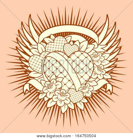 Valentines Day design. Vector illustration.