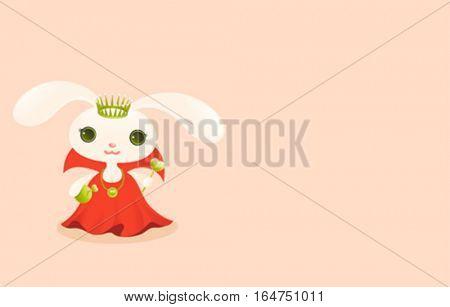 Queen. Cute baby animal
