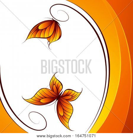 Butterfly. Abstract beautiful vector illustration.