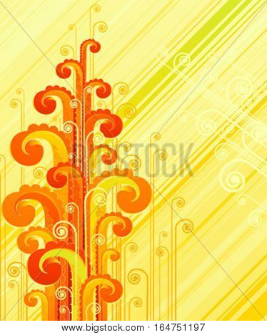 Abstract swirls. Beautiful vector illustration.