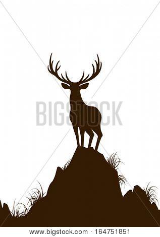 Deer. Vector illustration.