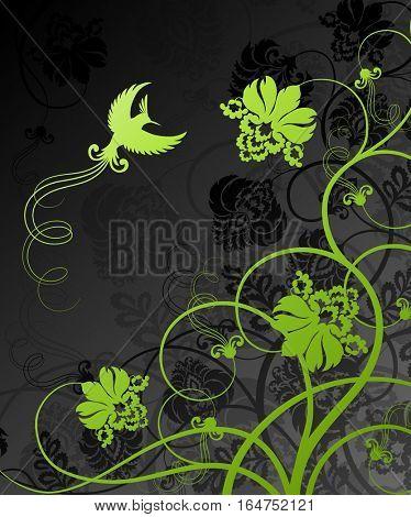 Floral decoration. Beautiful vector illustration.