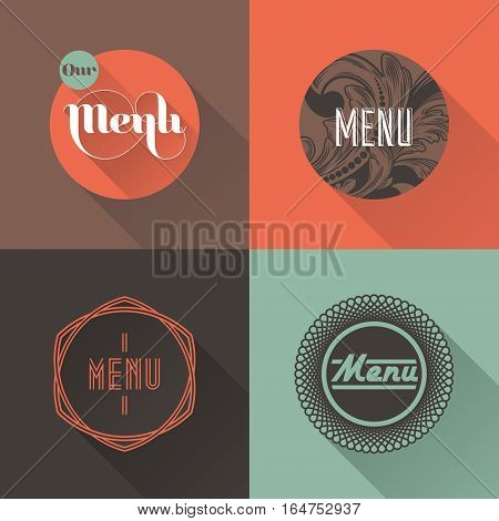 Labels for restaurant menu design