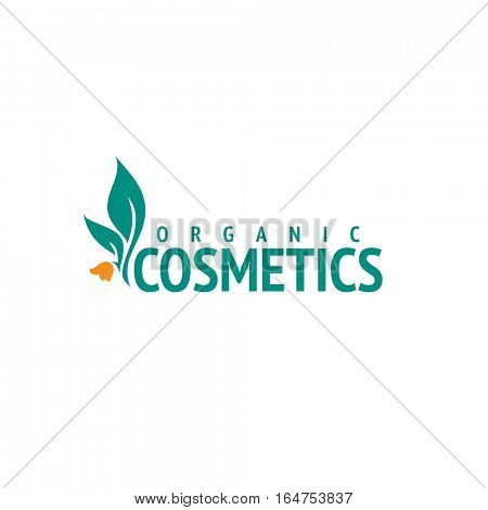Organic cosmetics logo design vector template. Flower icon