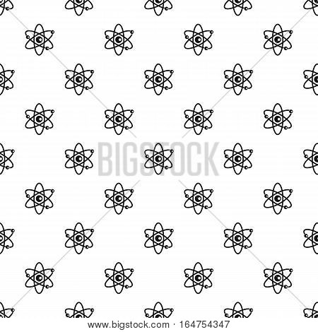 Atom with electrons pattern. Simple illustration of atom with electrons vector pattern for web