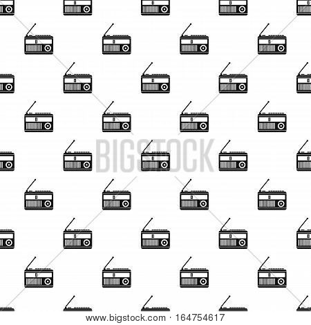 Radio receiver pattern. Simple illustration of radio receiver vector pattern for web