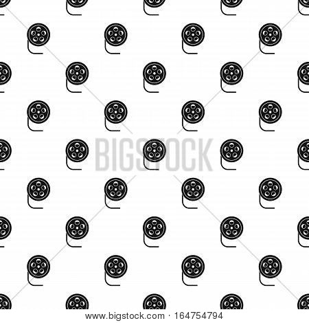 Film reel pattern. Simple illustration of film reel vector pattern for web