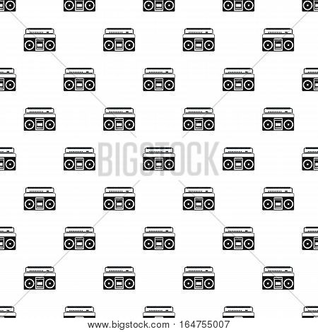 Boombox or radio cassette tape player pattern. Simple illustration of boombox or radio cassette tape player vector pattern for web