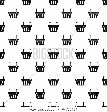 Shopping basket pattern. Simple illustration of shopping basket vector pattern for web