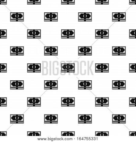 Stack of money pattern. Simple illustration of stack of money vector pattern for web