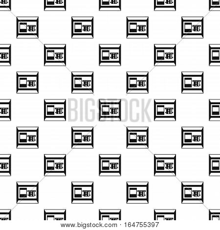 ATM bank cash machine pattern. Simple illustration of ATM bank cash machine vector pattern for web