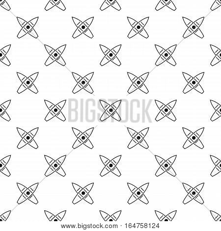 Crossed surfboards pattern. Simple illustration of crossed surfboards vector pattern for web