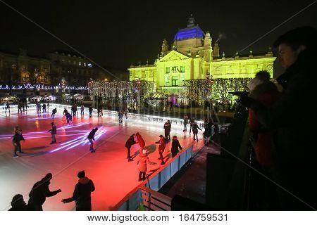 City Ice Rink In Zagreb