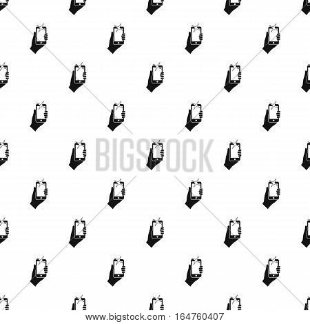 Hand holding smartphone pattern. Simple illustration of hand holding smartphone vector pattern for web