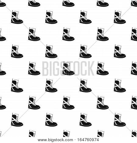 Winter snow boot pattern. Simple illustration of winter snow boot vector pattern for web
