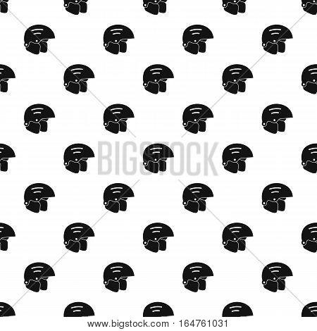 Ski helmet pattern. Simple illustration of ski helmet vector pattern for web