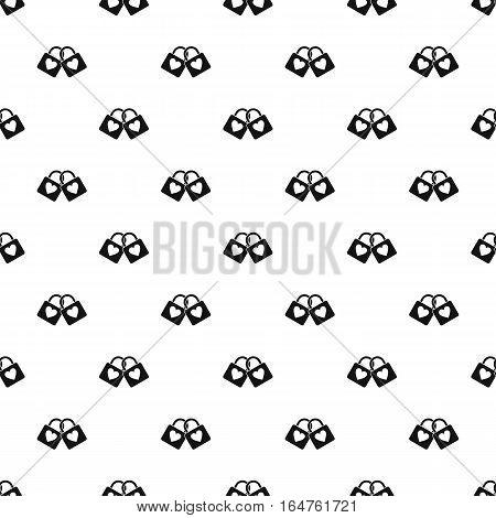 Padlocks with heart pattern. Simple illustration of padlocks with heart vector pattern for web