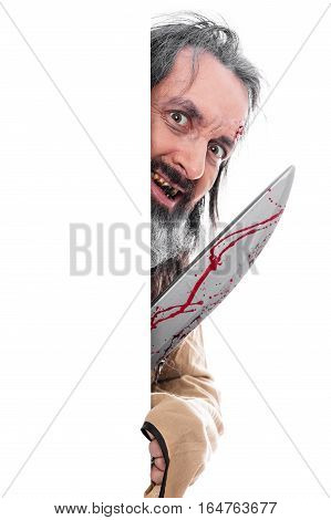 Insane Man With Knife
