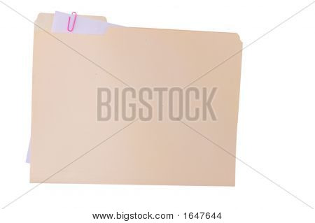 Folder On White