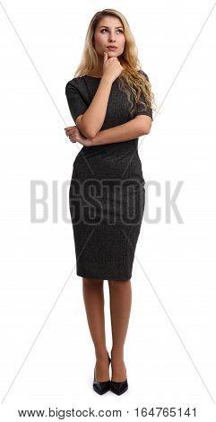 Full Length Portrait Of A Beautiful Businesswoman