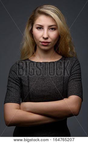 Portrait Of Confident Young Blonde Woman