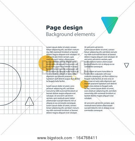 Creative modern background, unusual minimalistic and attractive poster design, vector geometric template, abstract pattern with gradient shapes