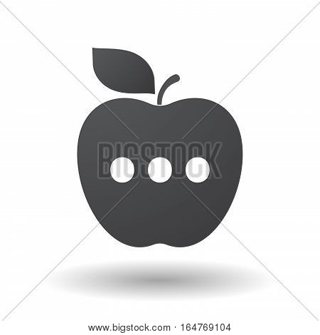 Isolated Apple With  An Ellipsis Orthographic Sign