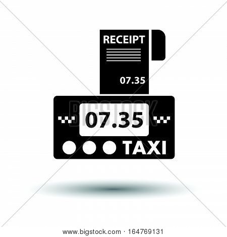 Taxi Meter With Receipt Icon