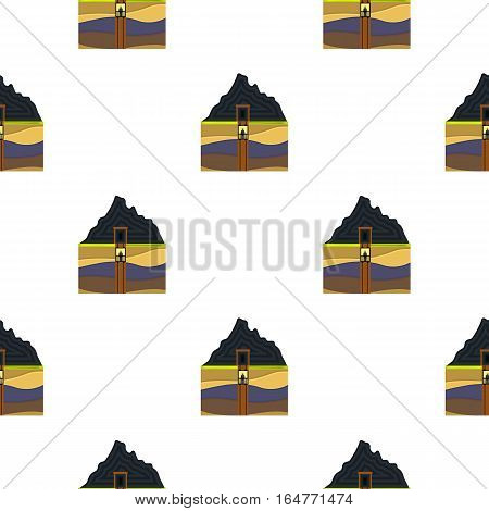 Mine shaft icon in cartoon style isolated on white background. Mine pattern vector illustration.