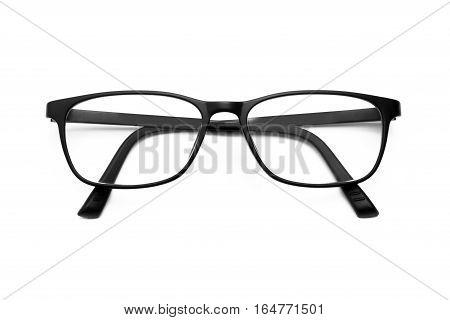 Glasses. Isolated on white background, eye glasses,